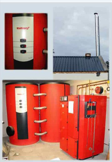 Wood gasification heating system